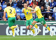 Picture by Chris Donnelly/Focus Images Ltd. 07500 903009 .17/9/11.Anthony Pilkington of Norwich celebrates scoring the first goal during the Barclays Premier League match at Reebok stadium, Bolton.