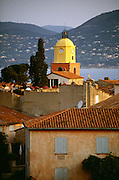 France, Provence, St.Tropez, Church spire