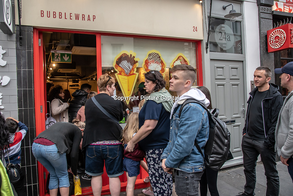 Bubblewrap in London Chinatown Sweet Tooth Cafe and Restaurant at Newport Court and Garret Street on 15 June 2019, UK.