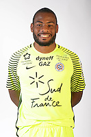 Jonathan Ligali during the photocall of Montpellier for new season of Ligue 1 on September 27th 2016 in Montpellier<br /> Photo : Mhsc / Icon Sport