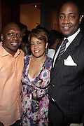 l to r: Reggie Scott, Dolly Turner and Larry Dunlap at The American Black Film Festival New York Buzz Party Sponsored by New York Women in Film & Television hosted by Tsia Moses on April 30, 2009 held at Sundaram Tagore Gallery in NYC.