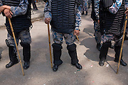 The policeforces geared up for massive riots, but none erupted. April 10th 2008 the historic Consistuent assembly elections took place in Nepal, putting an end to a centuries of monarchy. The assembly will form a new constitution and abolish the monarchy and King Gyanendras rule. The big question remains if the new maoist led government will be a positive or a negative factor in a country that recently emerged from a decade of civilwar. Photo: Christopher Olssøn.