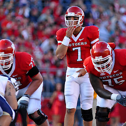 Sep 19, 2009; Piscataway, NJ, USA; Rutgers quarterback Tom Savage (7) during the first half of NCAA college football between Rutgers and Florida International at Rutgers Stadium.