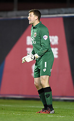 Bristol City goalkeeper, Frank Fielding shouts to team mates in the FA Cup third round replay between Bristol City and Doncaster Rovers at Ashton Gate on January 14, 2015 in Bristol, England. - Photo mandatory by-line: Paul Knight/JMP - Mobile: 07966 386802 - 13/01/2015 - SPORT - Football - Bristol - Ashton Gate Stadium - Bristol City v Doncaster Rovers - FA Cup third round replay