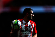 Atletico Madrid's Spanish midfielder Koke holds the ball during the Spanish championship Liga football match between Atletico de Madrid and RC Celta on March 11, 2018 at the Wanda Metropolitano stadium in Madrid, Spain - Photo Benjamin Cremel / ProSportsImages / DPPI