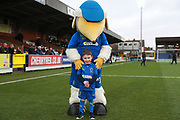 Haydon the Womble, mascot during the EFL Sky Bet League 1 match between AFC Wimbledon and Blackpool at the Cherry Red Records Stadium, Kingston, England on 29 December 2018.