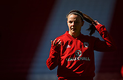 SOUTHAMPTON, ENGLAND - Thursday, April 5, 2018: Wales' Loren Dykes during a training session at St. Mary's Stadium ahead of the FIFA Women's World Cup 2019 Qualifying Round Group 1 match against England. (Pic by David Rawcliffe/Propaganda)