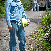 JULY 19, 2018----UTUADO, PUERTO RICO---<br /> Heriberto Velez with a crew from  the Puerto Rico Electric Power Authority  while restoring power to a single family home.<br /> (Photo by Angel Valentin/Freelance)