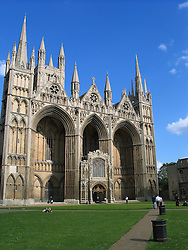 Exterior view of Peterborough Cathedral, Peterborough, England