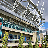 BC Place Stadium Facade in Vancouver, Canada<br />