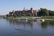 Wisla river and Wawel (castle).
