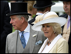 Prince Charles and The Duchess of Cornwall at the Opening day of Royal Ascot 2013 Ascot, United Kingdom<br /> Tuesday, 18th June 2013,<br /> Picture by Andrew Parsons / i-Images