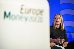 © Licensed to London News Pictures.<br /> 27/06/2017<br /> Arlette Broex of MyOrder, during a talk about The Growth of in-app payments and social commerce at The Money 20/20 Europe exhibition held at The Bella Centre in Copenhagen, Denmark,  June 27th 2017<br /> The Money 20/20 Europe exhibition is the largest FinTech event in Europe and show cases new and emerging technologies in the financial sector<br /> Photo credit should read Ant Upton/LNP