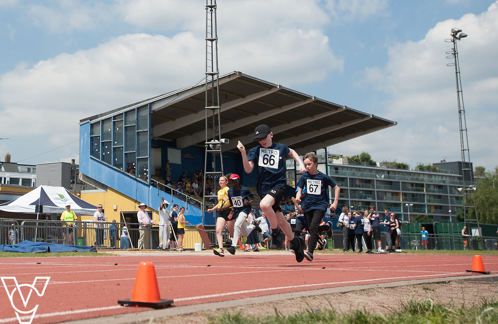 Metro Blind Sport's 2017 Athletics Open held at Mile End Stadium.  60m.  Eoin Quigley<br /> <br /> Picture: Chris Vaughan Photography for Metro Blind Sport<br /> Date: June 17, 2017