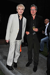 Left to right, NICK RHODES and WILLIAM TURNER at the annual Serpentine Gallery Summer Party sponsored by Burberry held at the Serpentine Gallery, Kensington Gardens, London on 28th June 2011.