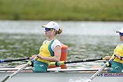 Munich, GERMANY.  AUS2 W2X. Bow Hannah EVERY-HALL and Alice MCNAMARA.  2010 FISA World Cup. Olympic Rowing Course, Munich.  Friday  18/06/2010   [Mandatory Credit Peter Spurrier/ Intersport Images]