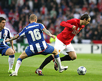 20090415: PORTO, PORTUGAL - FC Porto vs Manchester United: Champions League 2008/2009 – Quarter Finals – 2nd leg. In picture: Raul Meireles, Cristian Rodriguez and Berbatov . PHOTO: Manuel Azevedo/CITYFILES