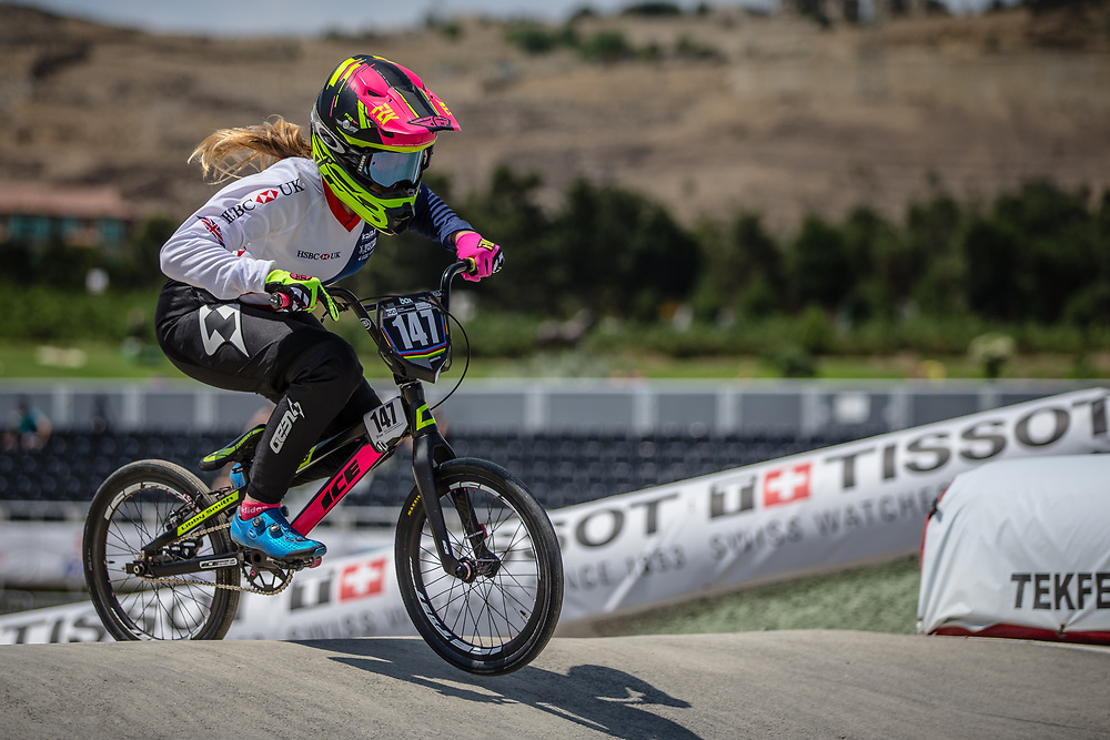 Women Junior #147 (SMITH Libby) GBR at the 2018 UCI BMX World Championships in Baku, Azerbaijan.