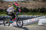 Women Junior #147 (SMITH Libby) GBR at the 2018 UCI BMX World Championships in Baku, Azerbaijan.