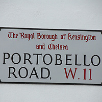 Portobello Road sign, London