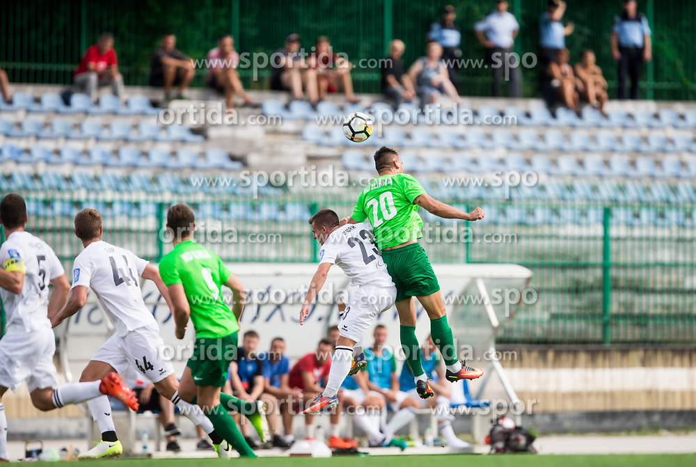 Klemen Sturm of NK Krsko vs Sinisa Marinovic of ND Ilirija during football match between ND Ilirija 1911 and NK Krsko in 1st Round of Slovenian Football Cup 2017/18, on August 16, 2017 in Stadium Ilirija, Ljubljana, Slovenia. Photo by Vid Ponikvar / Sportida