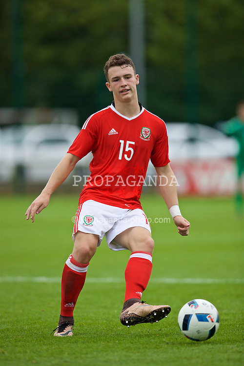 NEWPORT, WALES - Tuesday, September 6, 2016: Wales' Liam Angel in action against Iceland during the International Friendly match at Dragon Park. (Pic by David Rawcliffe/Propaganda)