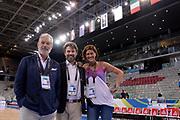 DESCRIZIONE: Torino Turin 2016 FIBA Olympic Qualifying Tournament Finale Final Italia Croazia Italy Croatia<br /> GIOCATORE : Dario Colombo Alessandro Botta Federica Moschiano<br /> CATEGORIA : vip<br /> SQUADRA : Italia Italy<br /> EVENTO : 2016 FIBA Olympic Qualifying Tournament <br /> GARA : 2016 FIBA Olympic Qualifying Tournament Finale Final Italia Croazia Italy Croatia<br /> DATA : 09/07/2016<br /> SPORT: Pallacanestro<br /> AUTORE : Agenzia Ciamillo-Castoria/Max.Ceretti <br /> Galleria : 2016 FIBA Olympic Qualifying Tournament <br /> Fotonotizia : Torino Turin 2016 FIBA Olympic Qualifying Tournament Finale Final Italia Croazia Italy Croatia<br /> Predefinita :