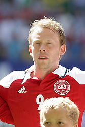 26.05.2012, Imtech Arena, Hamburg, GER, UEFA EURO 2012, Testspiel, Daenemark vs Brasilien, im Bild Michael KROHN-DEHLI (DAN) // during the Preparation Game for the UEFA Euro 2012 betweeen Danmakr and Brasil at the Imtech Arena, Hamburg, Germany on 2012/05/26. EXPA Pictures © 2012, PhotoCredit: EXPA/ Eibner/ Andre Latendorf..***** ATTENTION - OUT OF GER *****
