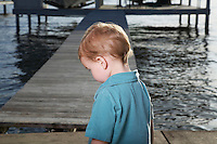Toddler Boy on Pier