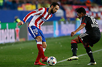 Atletico de Madrid´s Juanfran (L9 and Bayer 04 Leverkusen´s Wendell during the UEFA Champions League round of 16 second leg match between Atletico de Madrid and Bayer 04 Leverkusen at Vicente Calderon stadium in Madrid, Spain. March 17, 2015. (ALTERPHOTOS/Victor Blanco)