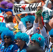 Fiji fan shows his support at the Hong Kong Stadium, Hong Kong on 28 March 2015. Photo by Ian Muir....during the Hong Kong Sevens 2015 match between ........... at Hong Kong Stadium, Hong Kong on 27 March 2015. Photo by Ian Muir.