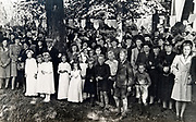 festive village gathering Holland 1940s