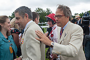 ROWAN ATKINSON; THE EARL OF MARCH, Ladies Day, Glorious Goodwood. Goodwood. August 2, 2012