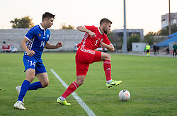 ORHEI, MOLDOVA - Friday, October 11, 2019: Wales' Brandon Cooper during the UEFA Under-21 Championship Italy 2019 Qualifying Group 9 match between Moldova and Wales at the Orhei District Sports Complex. (Pic by Kunjan Malde/Propaganda)