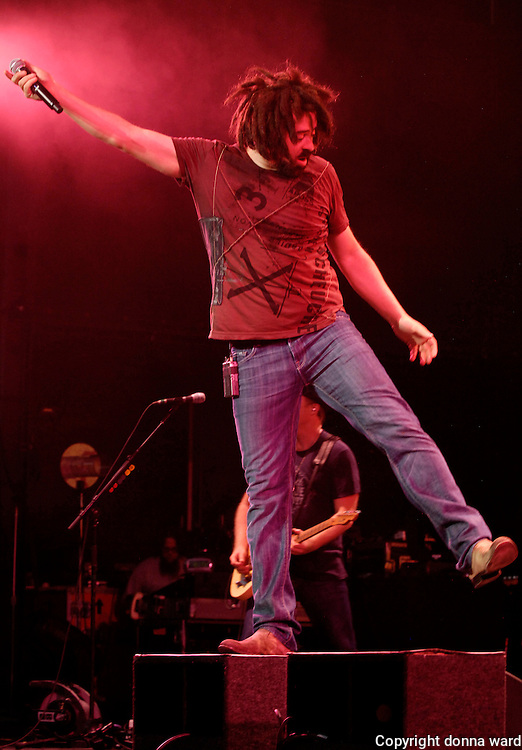 Adam Duritz of the Counting Crows performs at the Nikon Theater at Jones Beach in New York City, USA on August 1, 2008.