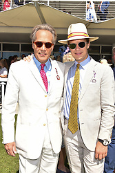 Left to right, the Duke of Richmond and his son the Earl of March at the Qatar Goodwood Festival - Glorious Goodwood, Goodwood Racecourse, West Sussex 02 August 2018.