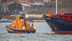 Lifeboat deals with drifting ship, Oban, 11 January 2020