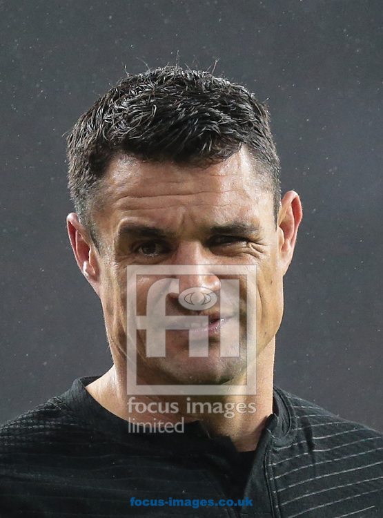 Daniel Carter of New Zealand during the 2015 Rugby World Cup semi final match at Twickenham Stadium, Twickenham<br /> Picture by Michael Whitefoot/Focus Images Ltd 07969 898192<br /> 24/10/2015