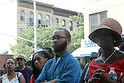 17 August- New York, NY: Supporters attend the endorsement announcement by U.S.Congressman Hakeem Jeffries of Laurie Cumbo for City Council District 35 held at the Laurie Cumbo Campaign Headquarters in the Prospect Heights section of Brooklyn, NY on August 17, 2013 in New York City. © Terrence Jennings