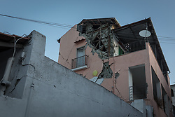 August 22, 2017 - Casamicciola, NA, Italy - A magnitude 3.6 earthquake knock was heard in Ischia late in the day on August 21st. Several collapses, including a palace and a church, numerous wounded. From the rubble between 21 and 22 August, three young brothers were saved under the ruins. Two victims found out. (Credit Image: © Michele Amoruso/Pacific Press via ZUMA Wire)