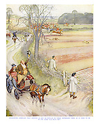 Foxhunters complain that hunting is not so popular in these depressed times as it used to be in the good old days. But - they should come and see our boxing-day meet.