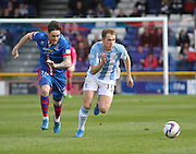 Dundee's Greg Stewart races away from Inverness Caley Thistle's Greg Tansey - Dundee Saturday Morning Football League<br /> <br />  - &copy; David Young - www.davidyoungphoto.co.uk - email: davidyoungphoto@gmail.com