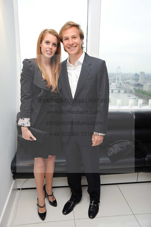 PRINCESS BEATRICE OF YORK and DAVE CLARK at The Reuben Foundation and Virgin Unite Haiti Fundraising dinner held at Altitude 360 in Millbank Tower, London on 26th May 2010.