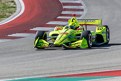 February 12, 2019 - U.S. - AUSTIN, TX - FEBRUARY 12: Simon Pagenaud (22) in a Chevrolet powered Dallara IR-12 exits turn 2 during the IndyCar Spring Training held February 11-13, 2019 at Circuit of the Americas in Austin, TX. (Photo by Allan Hamilton/Icon Sportswire) (Credit Image: © Allan Hamilton/Icon SMI via ZUMA Press)