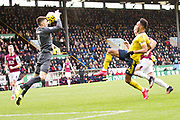 Burnley goalkeeper Nick Pope make a save during the Premier League match between Burnley and Arsenal at Turf Moor, Burnley, England on 2 February 2020.
