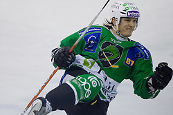Tomi Mustonen (HDD Tilia Olimpija, #21) during ice-hockey match between HD Tilia Olimpija and HK Acroni Jesenice  in 8th Round of EBEL league, on October 3, 2010 at Hala Tivoli, Ljubljana, Slovenia. (Photo By Matic Klansek Velej / Sportida.com)