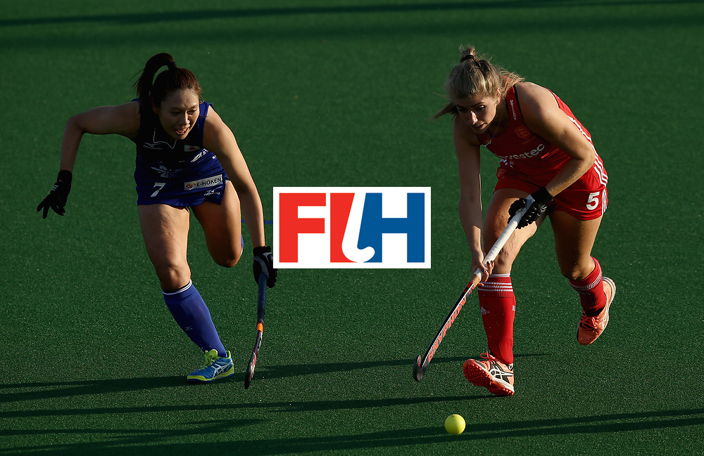 JOHANNESBURG, SOUTH AFRICA - JULY 12: Sarah Haycroft of England in action during day 3 of the FIH Hockey World League Semi Finals Pool A match between Japan and England at Wits University on July 12, 2017 in Johannesburg, South Africa. (Photo by Jan Kruger/Getty Images for FIH)