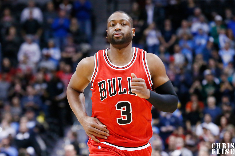 22 November 2016: Chicago Bulls guard Dwyane Wade (3) is seen during the Denver Nuggets 110-107 victory over the Chicago Bulls, at the Pepsi Center, Denver, Colorado, USA.