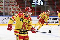 2019-10-02 | Ljungby, Sweden: Kalmar HC (10) Johan Järlefelt during the game between IF Troja / Ljungby and Kalmar HC at Ljungby Arena ( Photo by: Fredrik Sten | Swe Press Photo )<br /> <br /> Keywords: Ljungby, Icehockey, HockeyEttan, Ljungby Arena, IF Troja / Ljungby, Kalmar HC, fstk191002, ATG HockeyEttan