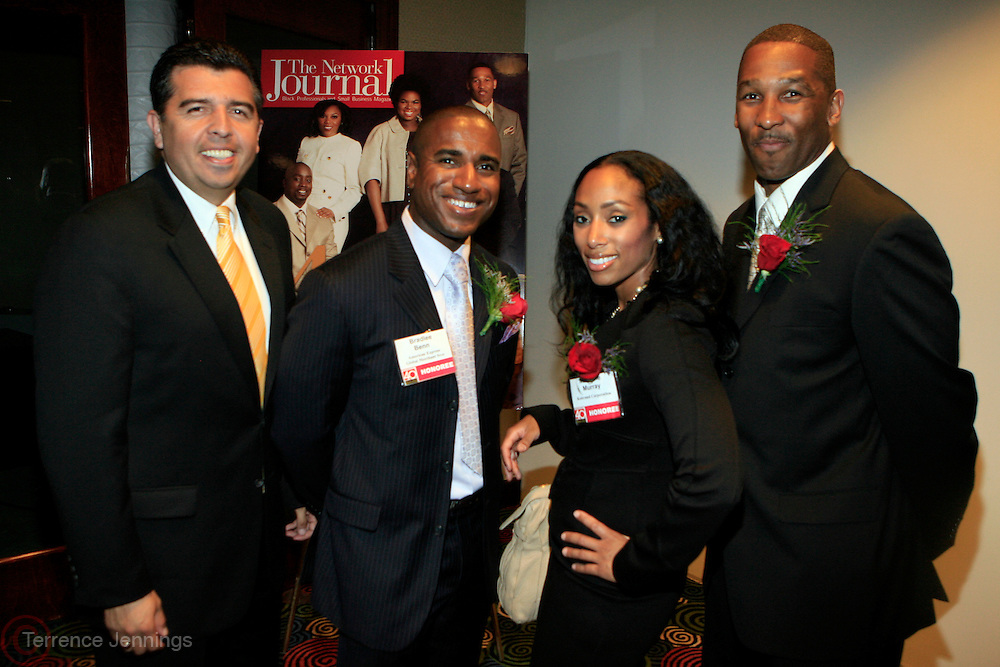 Joe Castro, Bradlee A. Benn, Michelle Murray and David A. Lipscomb at The Network Journal 40 under Forty 2008 Achievement Awards held at the Crowne Plaza Hotel on June 12, 2008